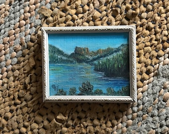 Vintage Small Oil Painting Landscape
