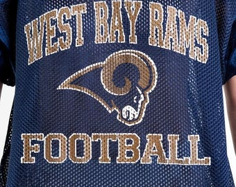 40% SUMMER SALE The Vintage West Bay Rams Football Navy Jersey Shirt