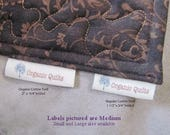 New! Long Thin Labels. Perfect for Pillows, Quilts, Placemats and Clothing