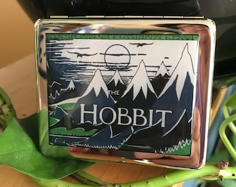 The Hobbit Vintage Book Cover 8 Day Pill Box With Mirror