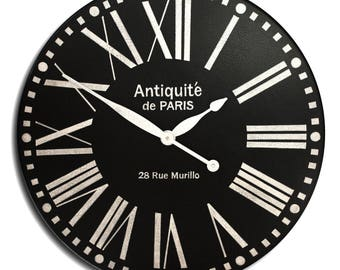 Large Wall Clock 24in BOLD PARIS ROMAN-Gallery Antique Style-Family Heirloom-Free Inscription