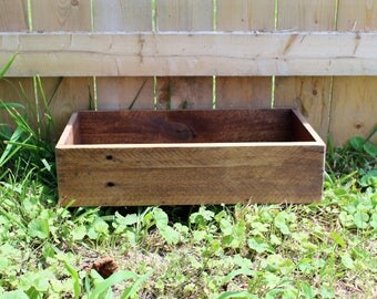 Wood Box Made From Reclaimed Wood - Country Home Decor - Rustic Pallet Box