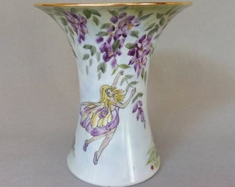 Garden Fairy Vase with Wisteria and Calendula