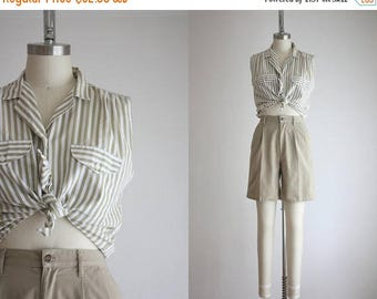 25% SALE striped summer blouse