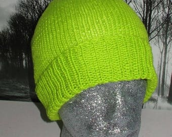 40% OFF SALE Instant Digital File pdf download knitting pattern -madmonkeyknits simple dk beanie hat knitting pattern