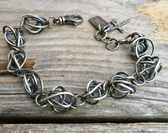 Sterling Silver Bracelet Basket Case Sterling Silver Bracelet Handmade Jewelry By Joy Kruse Wild Prairie Silver Jewelry