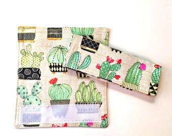 succulent luggage handle cover, 2 luggage handle wraps, bag handle cover, luggage tag, suitcase tag, bag tag cactus bag handle wrap, her him