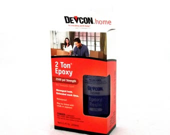 Devcon 2 Ton Epoxy Great For All Crafting Dries Clear & Tintable 8.5oz