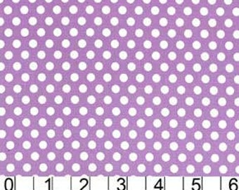 Remnant end of bolt 22 inches Michael Miller Fabric Kiss dot Polka Dot Purple