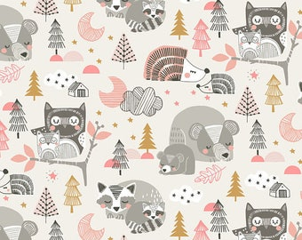 Blend Fabrics by Maude Asbury Sweet Dreams Collection Sleepyheads in Pink