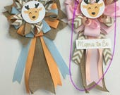 Baby Shower Corsages and 6 ft Garland Woodland Theme