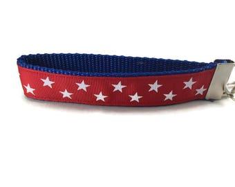 Red Stars, Key fob, Wristlet