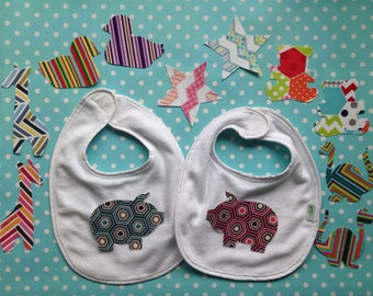 12 Piece Mixed Twin Boy Girl Fabric Iron On Appliques