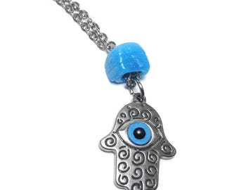 Evil eye hamsa hand rearview mirror car hanger - Stainless - Protection & Good Luck - Car/home gift - Car accessories - Greece - Lucky eye -