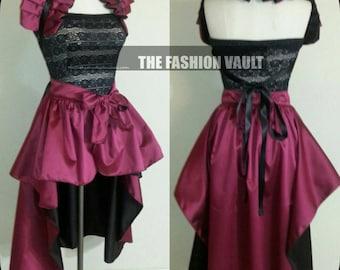 Bolero Shrug Wrap and Bustle  Skirt Dance costume Cosplay Manga  Ringmaster Burlesque