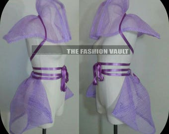 Sample sale Comicon cosplay costume Fairy tail manga set shrug and  bustle skirt