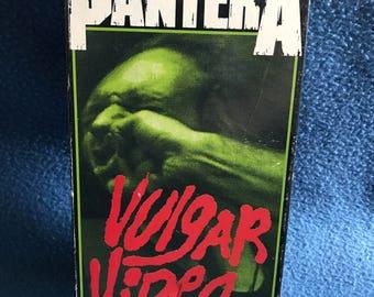 Vintage, PANTERA, Vulgar Video, VHS, Video Cassette Tape, Music Videos, Live Show, Interviews. Heavy Metal, Vulgar Display Of Power