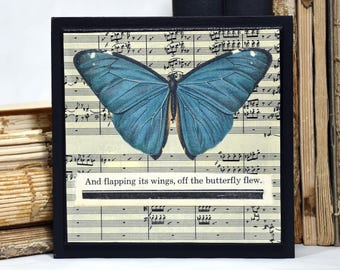 Butterfly Collage * OOAK * art * wall decor * paper collage