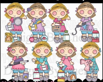 Our Girl So Pretty Clipart Collection- Immediate Download