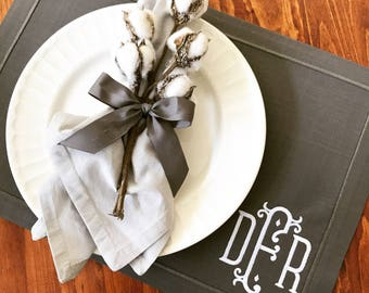 Monogrammed Wrinkle Free Placemats (set of four)