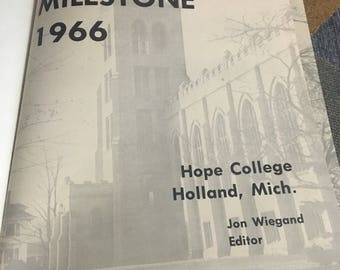 Vintage 1966 Hope College Holland Michigan Yearbook