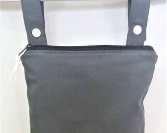 On Sale Solid Gray wet bag, cloth diaper wet bag, Kitchen wet bag, swimsuit bag, hanging wet bag, wet bathing suit bag, cloth diaper bag