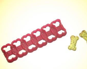 """Multi-cutter DOG BONE  Cookie Cutter 1.75"""" 6 cutter, 2"""" 6 cutter, 3.25"""" 4 cutter or 4"""" 4 cutter."""