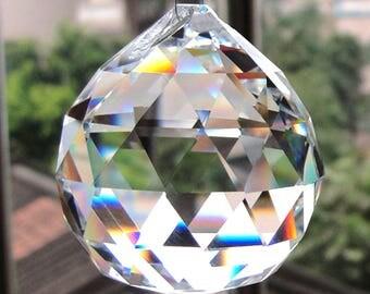 1 Clear Crystal Feng Shui Lamp Ball Prism Rainbow Sun Catcher Wedding Decor 20mm