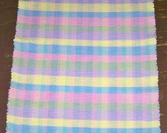 Handwoven 5-Color Rag Rug - Inv. ID# 04-0871