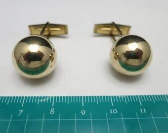 Gold filled Cufflinks Large shiny orbs GROOM WeDDING