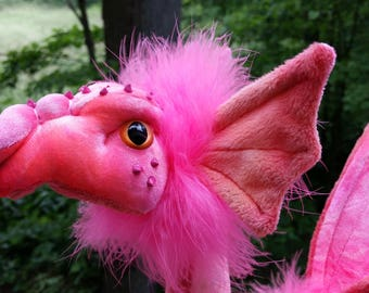 Reserved for Sheila Polhemus -  This is Sherbet...a pink/ coral Pixie Dragon