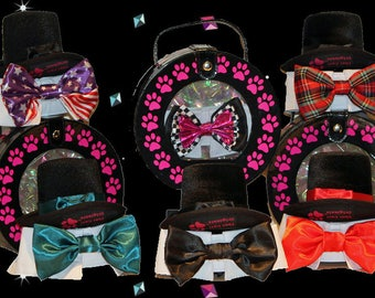 The Practical Aristocrat 5 Bow Tie Collar  set for cats and dogs