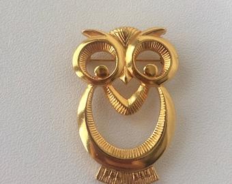 Vintage Mod Owl Pin