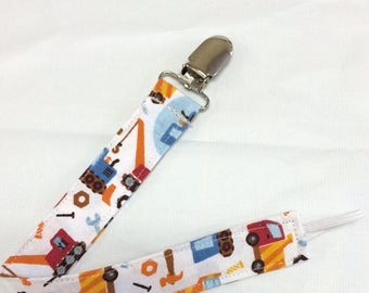 On Sale Construction Crew Paci Binky Clip