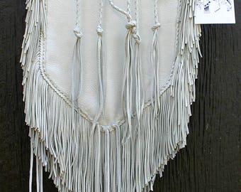 Native Deerskin Buckskin Leather Medicine Bag Fringe Purse