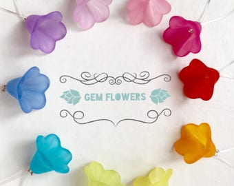 Stitch markers for Knitting, snag free  - GEM FLOWERS