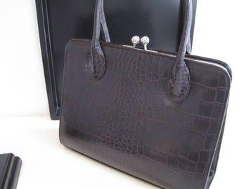 Vintage Preston and York Faux Croc handbag