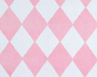 Michael Miller Minky Harlequin Pink,  Fabric By The Yard