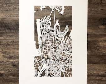 sydney hand cut map ORIGINAL