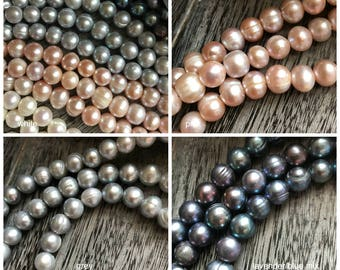 Choose Quantity & COLOR Large Hole Pearls, Large Hole Pearls, White Pearls, Large Hole Beads, Pearls, Leather and Pearls