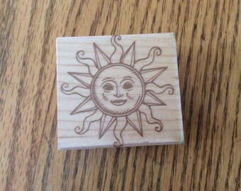 Stamp for Scrapbooking or Card Making- Celestial Sun -Rubber Stamp