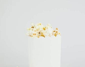 Sale DIY Ready to Pop Plain White Popcorn Party Favor Box (SET OF 10)