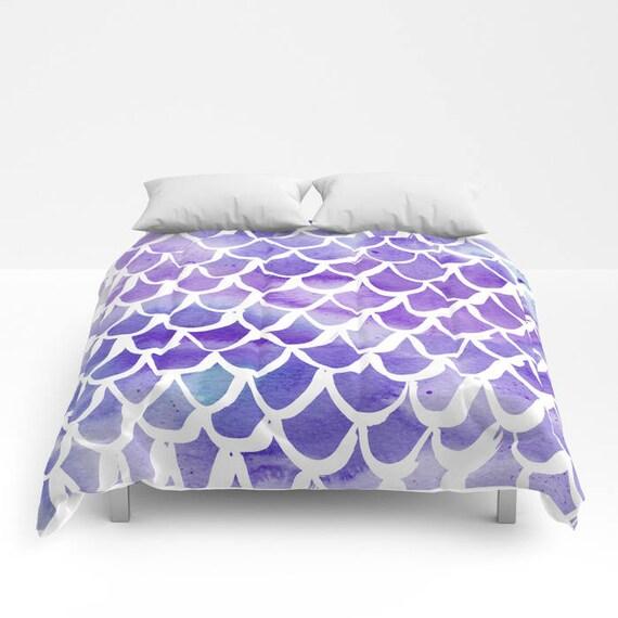 Purple Mermaid Comforter - Twin XL Comforter - Queen Comforter - King Comforter - Full Comforter - Twin Comforter Twin XL Bedding Bedspread