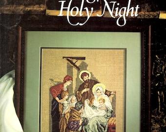 Silent Night Holy Night Jesus Mary Joseph Shepherd Lamb Man Woman Counted Cross Stitch Embroidery Craft Pattern Leaflet Leisure Arts 888