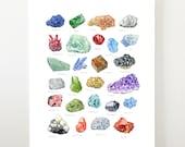 16x20 minerals print