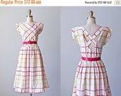 VACATION SALE 80s Dress - Vintage 1980s Dress - Citrus Berry Harlequin Stripe Cotton Sundress w Criss Cross Back S M - You Babes Dress