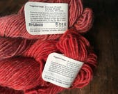 Green Mountain Spinnery - Mountain Mohair - Partridgeberry - rhubarb - worsted weight knitting wool yarn - red wool yarn on sale