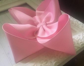 "Classic Soft Pastel Baby Pink Light Rose Pink X Large Boutique Hair Bow 2.25"" Ribbon ~ m2m Matching Matilda Jane The Adventure Begins BIG"