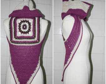 Crochet hood  shrug, festival,tribal style, bohemian,Gypsy,woodland,handmade , ready to ship