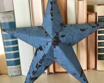 Primitive Handmade Metal Star Chipped Paint Farmhouse Decor